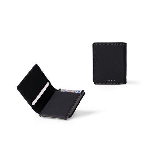 Cards case wallet - B - Black - Smooth Leather