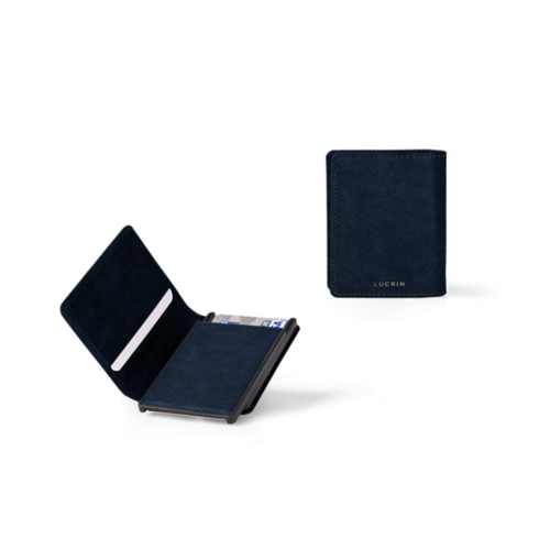 Cards case wallet - 6 - Navy Blue - Vegetable Tanned Leather