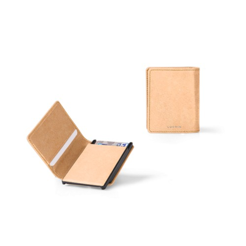 Cards case wallet - B - Natural - Vegetable Tanned Leather