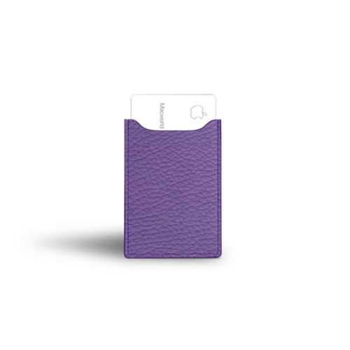 Apple Card case - Lavender - Granulated Leather