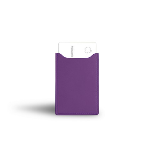Apple Card case - Lavender - Smooth Leather