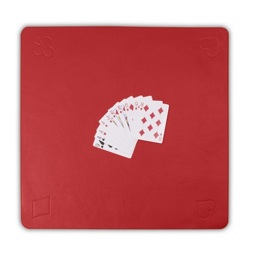 Playmat for card games - Red - Smooth Leather