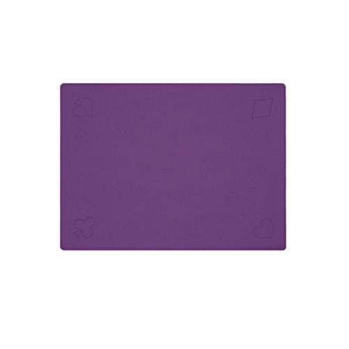 Speelmat voor kaartspellen - Lavendel - Soepel Leer