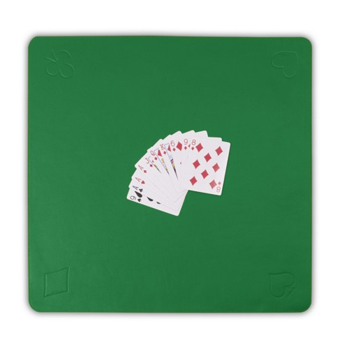 Spelmatta för Kortspel - Ljusgrön - Slätt läder