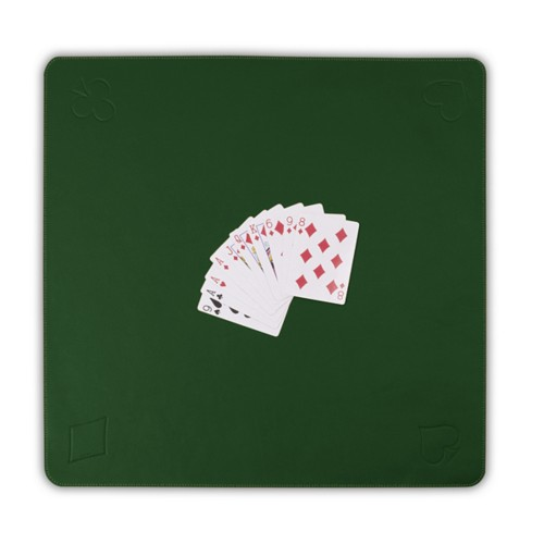 Playmat for card games - Dark Green - Smooth Leather