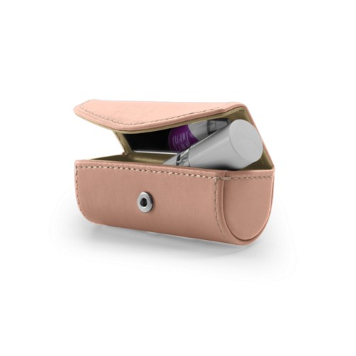 Single Lipstick Case - Nude - Smooth Leather