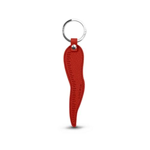 Porte-clés Cornicello - Rouge - Cuir de Chèvre
