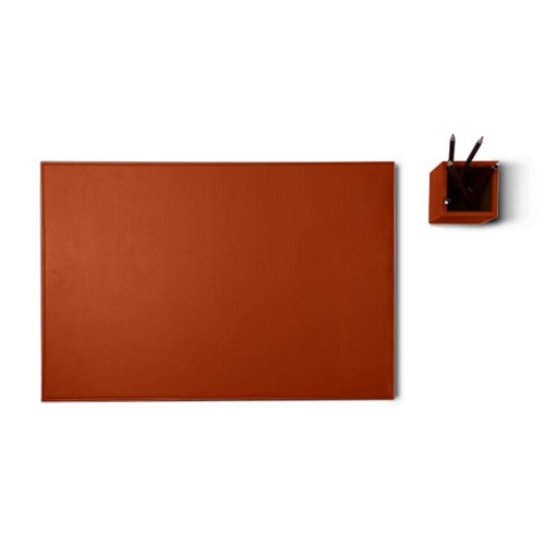 Silver edition desk set - Tan - Vegetable Tanned Leather