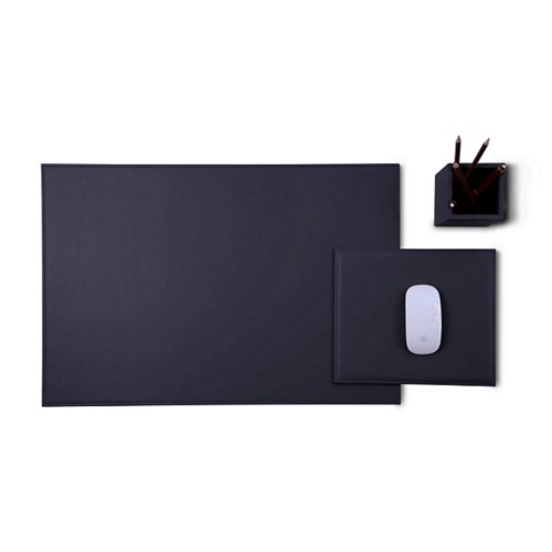 Gold Edition desk set - Purple - Smooth Leather