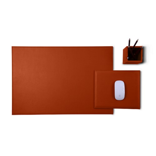 Gold Edition desk set - Tan - Vegetable Tanned Leather