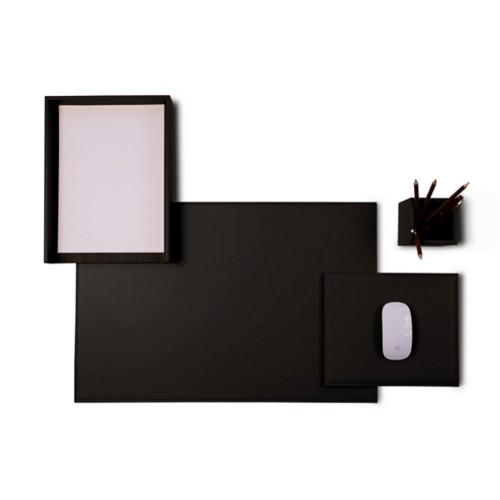 sets de bureau en cuir. Black Bedroom Furniture Sets. Home Design Ideas