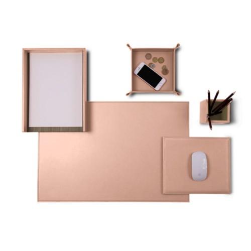Senator Edition' Schreibtisch-Set - Nude - Glattleder