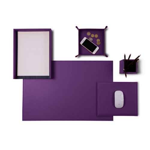 "Senator Edition"" desk set"" - Lavender - Smooth Leather"