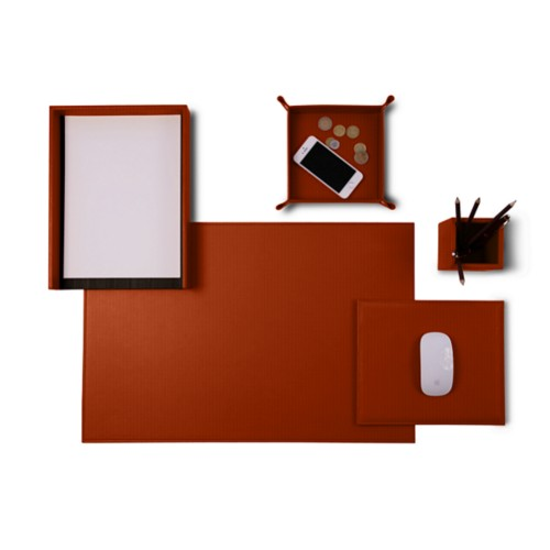 "Senator Edition"" desk set"" - Tan - Vegetable Tanned Leather"