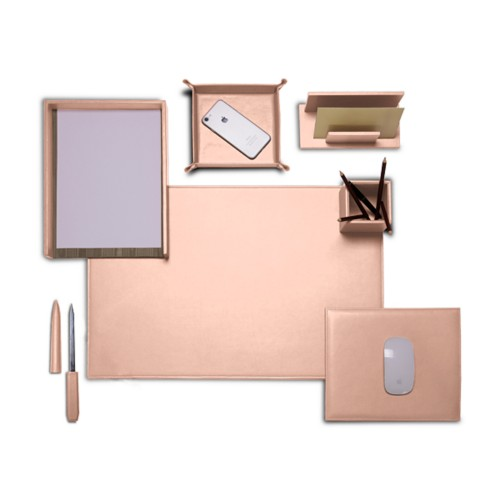 "Presidential Edition"" desk set"" - Nude - Smooth Leather"