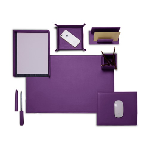 "Presidential Edition"" desk set"" - Lavender - Smooth Leather"