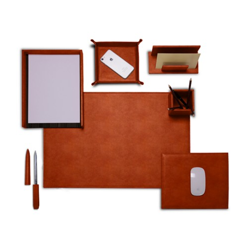 "Presidential Edition"" desk set"" - Tan - Vegetable Tanned Leather"