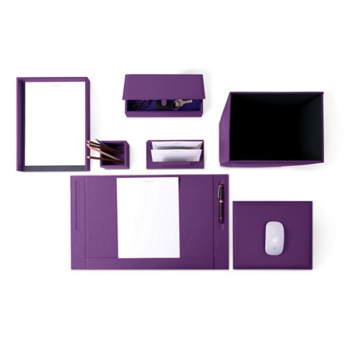 Executive Set - Lavender - Smooth Leather