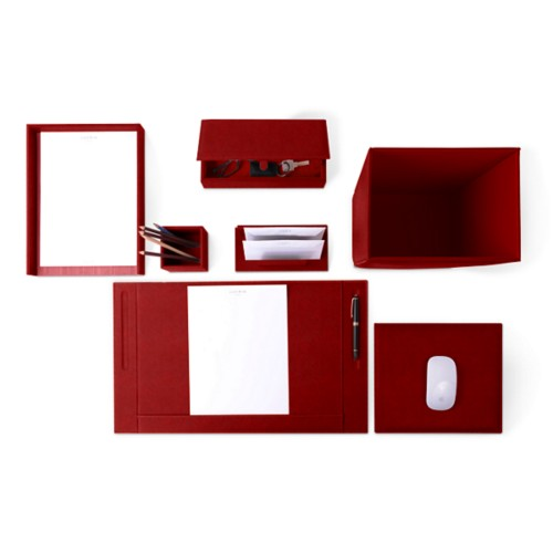 Executive Set - Carmine - Vegetable Tanned Leather