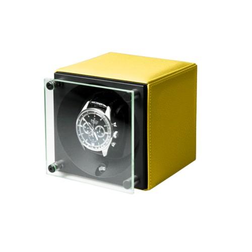 Remontoir pour une Montre - SwissKubik by LUCRIN - Citron - Cuir de Chèvre