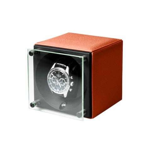 Remontoir pour une Montre - SwissKubik by LUCRIN - Orange - Cuir de Chèvre