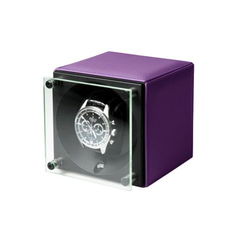 Single watch winder  SwissKubik - by LUCRIN - Lavender - Smooth Leather