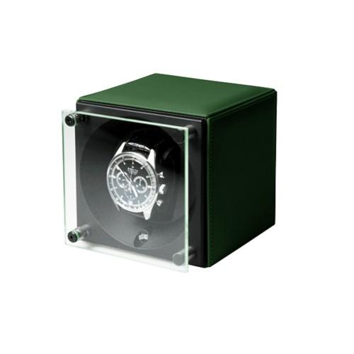 Remontoir pour une Montre - SwissKubik by LUCRIN - Vert Foncé - Cuir Lisse