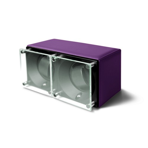 Double watch winder - SwissKubik by LUCRIN - Lavender - Smooth Leather