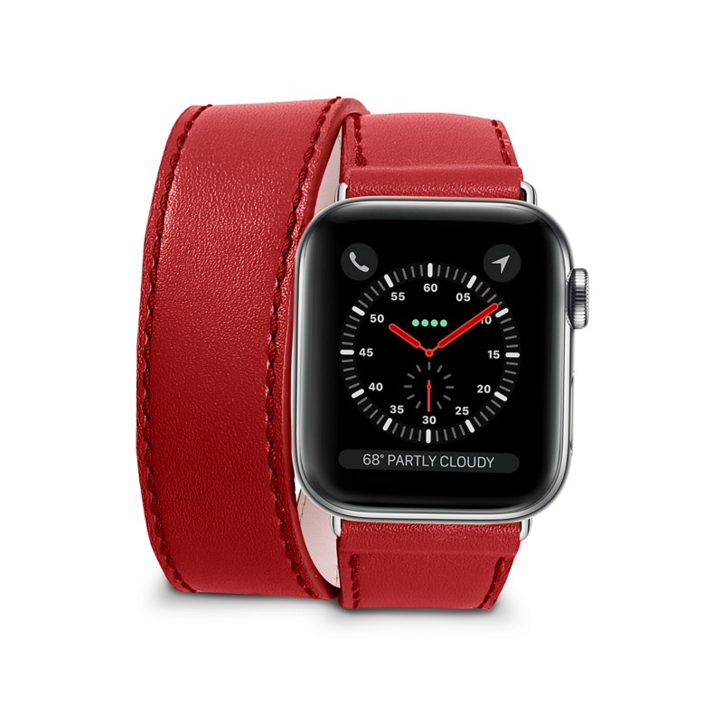 Double Tour Leather Band For Apple Watch 38mm 40mm