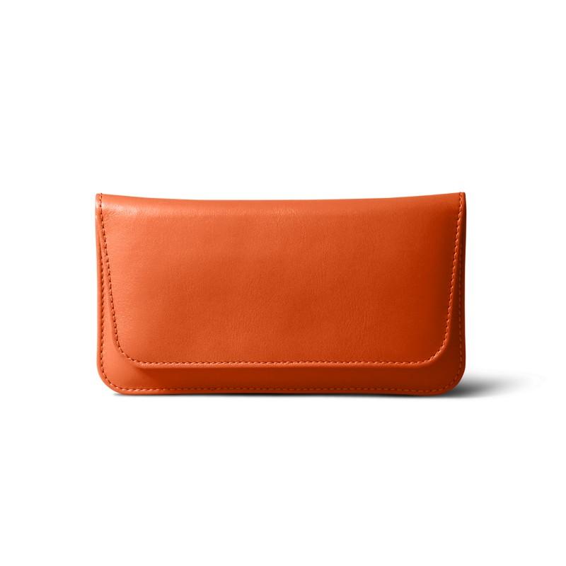 Étui ceinture iPhone 7 Plus Orange - Cuir Lisse Étui ceinture iPhone 7 Plus  Orange - Cuir Lisse  0c909411363