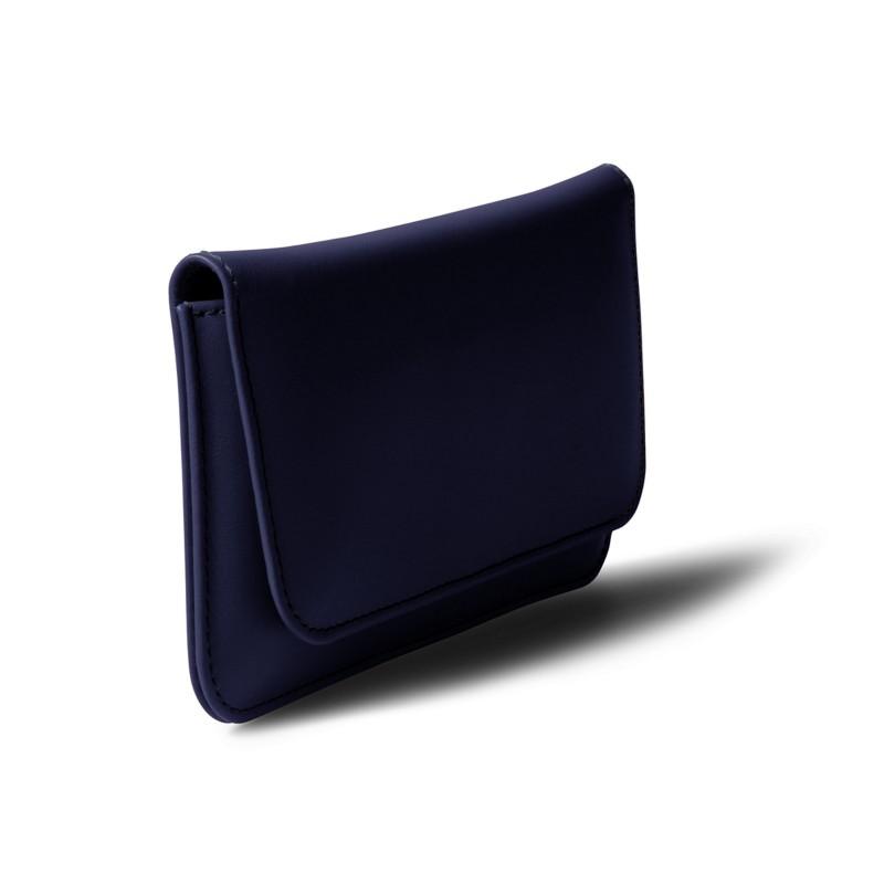 ba8e5604b3e3 Étui ceinture iPhone SE 5 5s Bleu Marine - Cuir Lisse Étui ceinture iPhone  SE 5 5s Bleu Marine - Cuir Lisse 