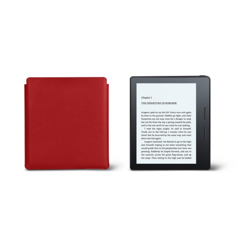 b35f24080c858 Kindle Oasis Schutzhülle 2017 Rot - Glattleder Kindle Oasis Schutzhülle  2017 Rot - Glattleder 