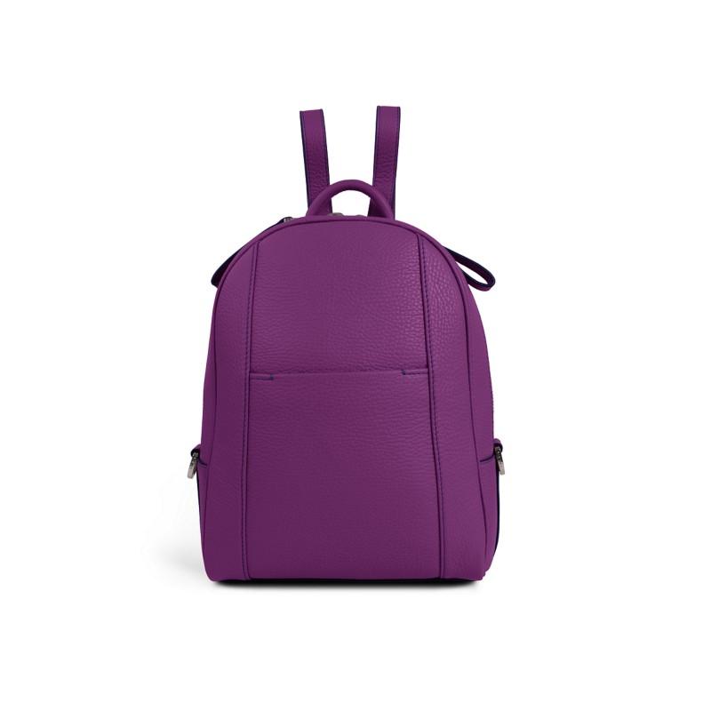 3443a086b637 Mini backpack Purple - Granulated Leather Mini backpack Purple - Granulated  Leather 