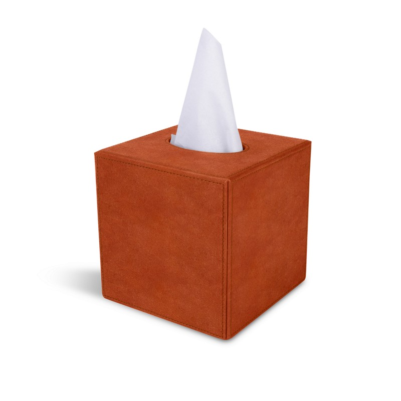 Funie Bo/îte /à mouchoirs en similicuir pour ranger les mouchoirs et CD Orange OneSize Noir