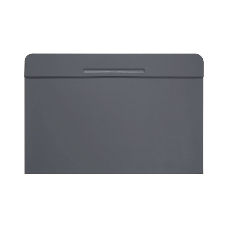 Customisable Desk Blotter 40 X 35 5 Cm Mouse Grey Smooth Leather