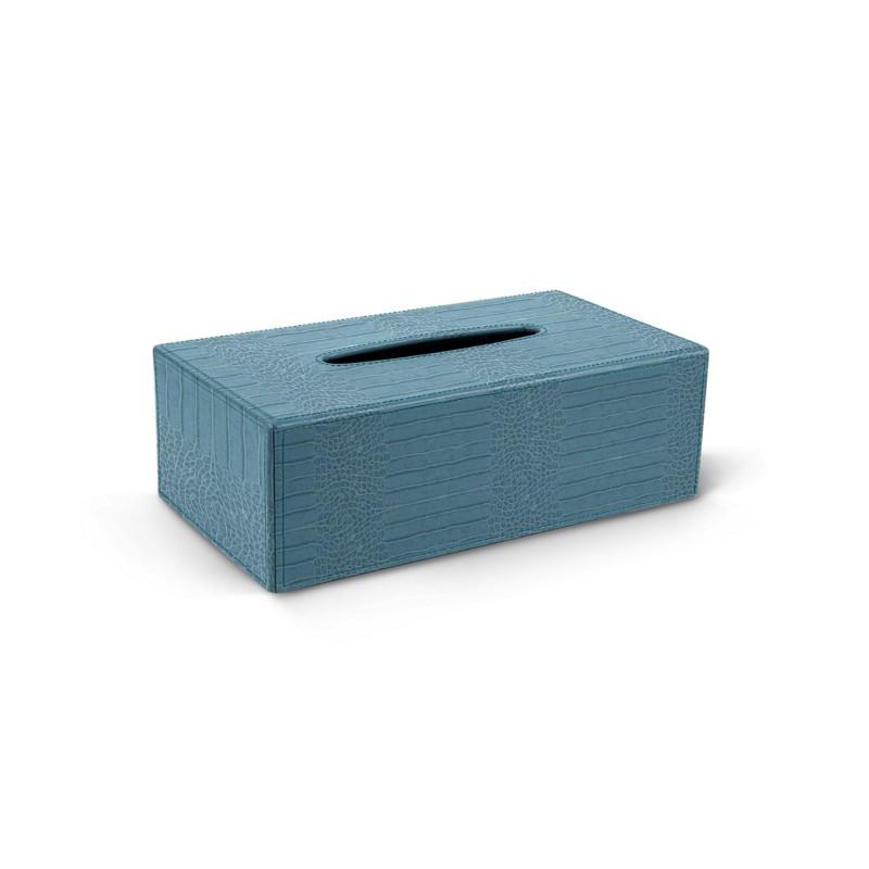 Boîte à Mouchoirs Rectangulaire Turquoise - Veau Façon Crocodile Boîte à  Mouchoirs Rectangulaire Turquoise - Veau Façon Crocodile  5dd72c0ec2d