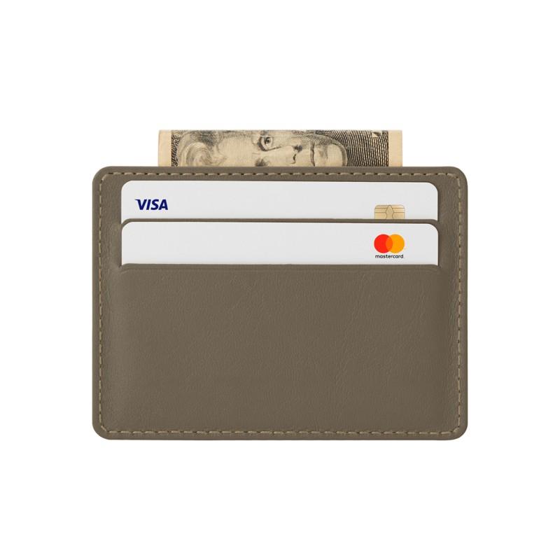 Etui 4 Cartes Bancaire Taupe Foncé - Cuir Lisse Etui 4 Cartes Bancaire  Taupe Foncé - Cuir Lisse  87d4ce271c3