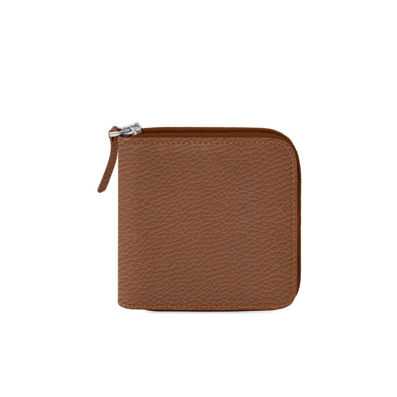 74a1044ee7b6 Porte monnaie zippé homme Cognac - Cuir Grainé Porte monnaie zippé homme  Cognac - Cuir Grainé 