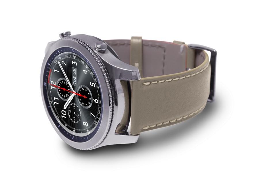 bracelet montre pour samsung galaxy gear s3 22mm taupe. Black Bedroom Furniture Sets. Home Design Ideas