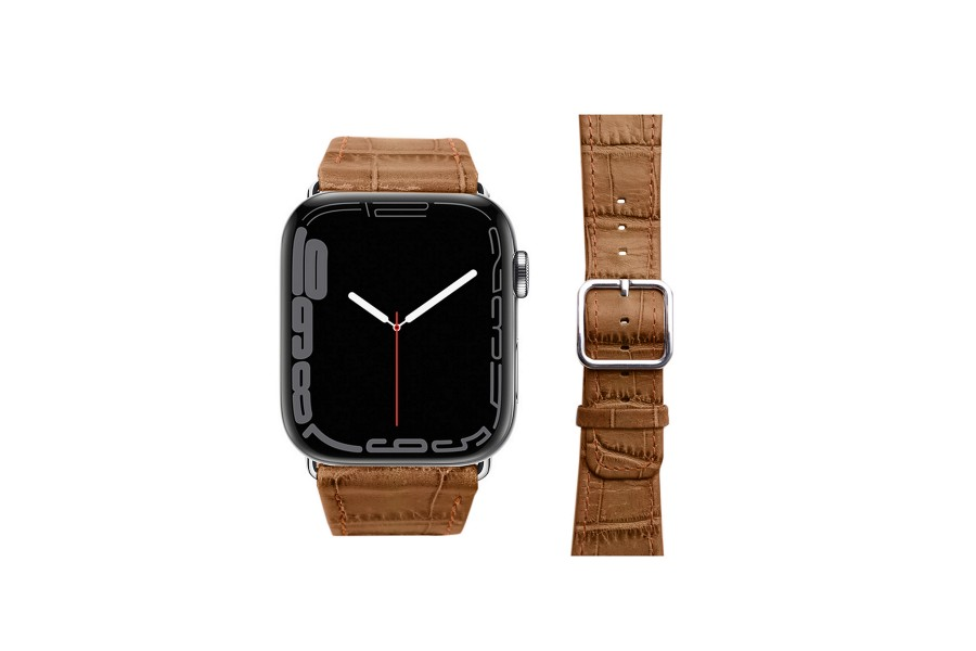 Apple Watch-Armband 42 mm in Krokodiloptik