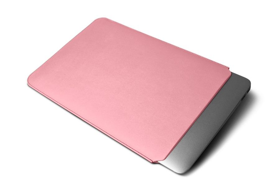 Housse macbook air 13 pouces rose cuir lisse for Housse macbook air