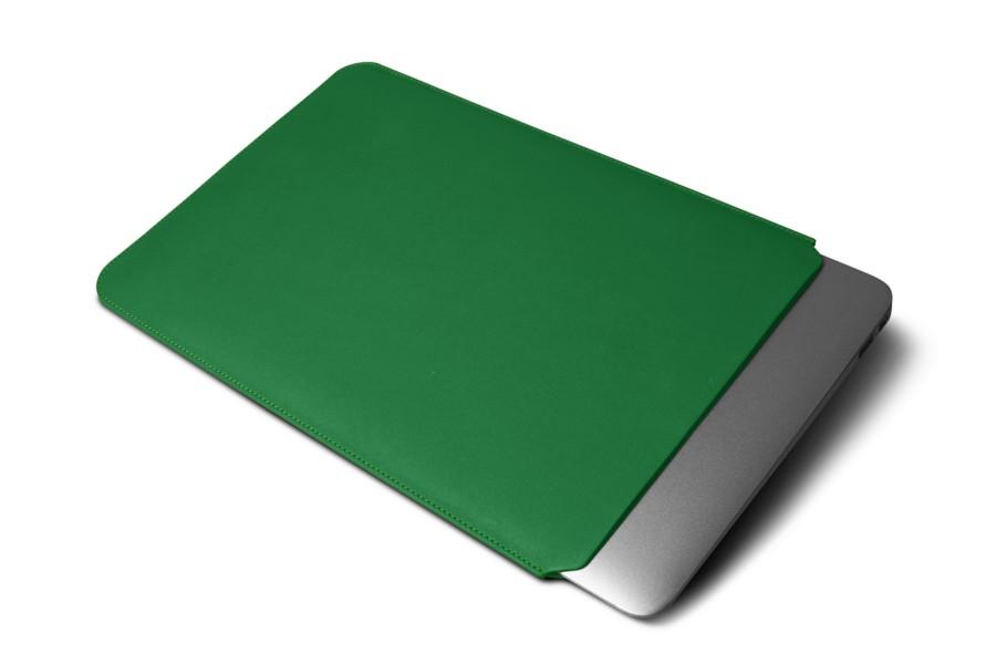 Lucrin - Housse de protection pour MacBook Air 13 pouces Retina Display - cuir de vachette lisse - Orange E3VfOz