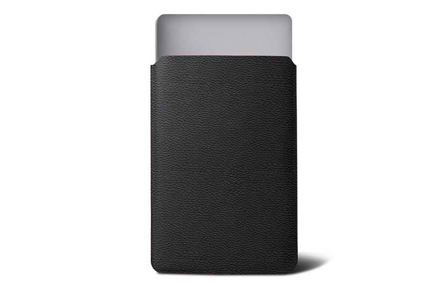 Housse macbook air 11 pouces noir cuir grain for Housse macbook air 11