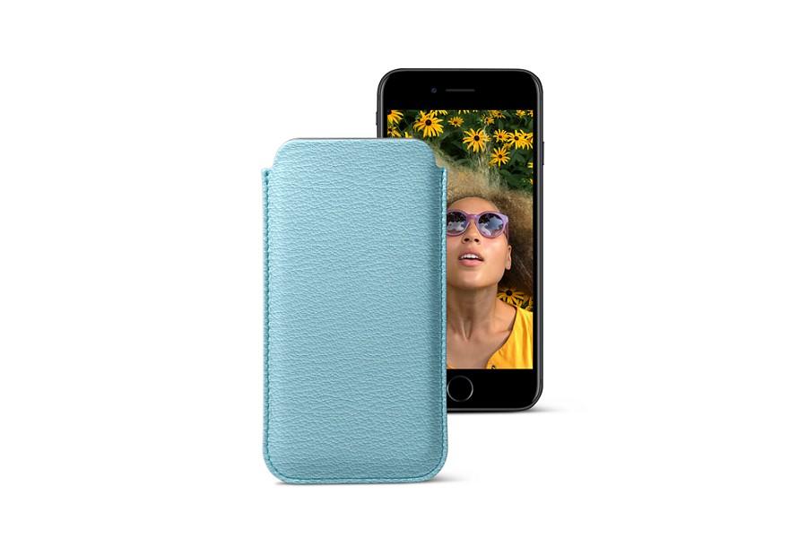 Custodia classica per iPhone 7 - Cielo - Pelle di Capra