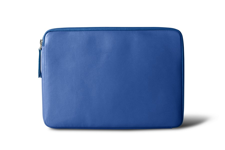 Housse zipp e ipad bleu roi cuir lisse for Housse zippee
