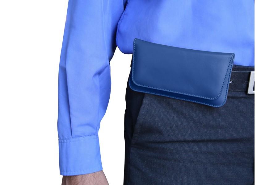 tui ceinture cuir pour samsung galaxy s7 edge bleu roi cuir lisse. Black Bedroom Furniture Sets. Home Design Ideas
