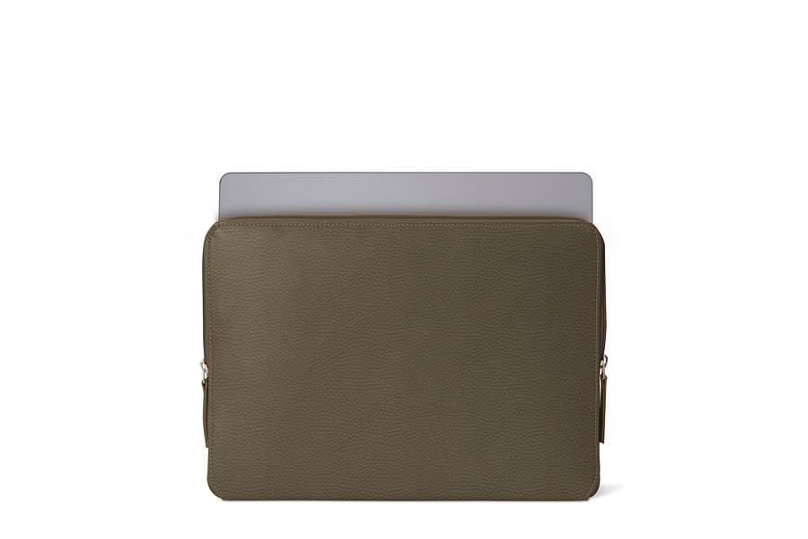 Housse zipp e macbook pro 13 touch bar 2016 taupe for Housse cuir macbook pro 13