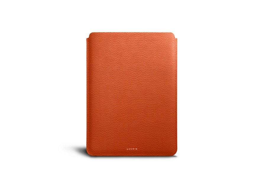 Housse pour iPad Pro 10,5 pouces  - Orange - Cuir Grainé