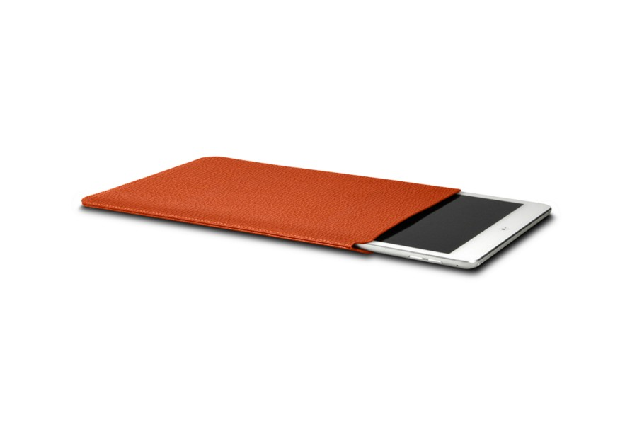 Protective sleeve for iPad Pro 10.5-inch - Orange - Granulated Leather