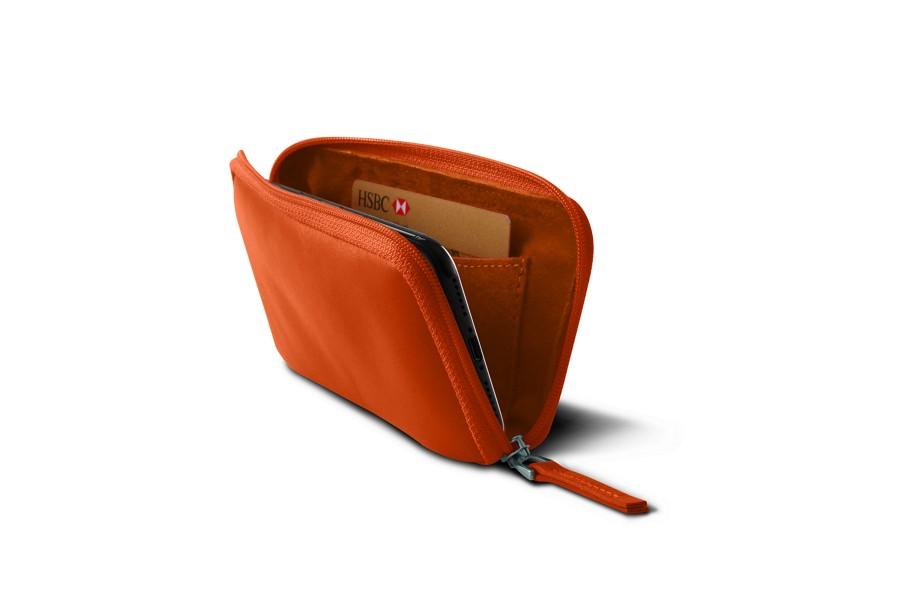 Housse zipp e iphone x orange cuir lisse iphone x for Housse zippee
